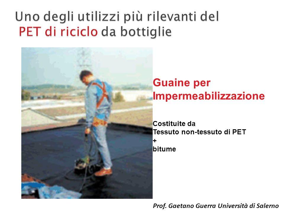 Guaine per Impermeabilizzazione Costituite da Tessuto non-tessuto di PET + bitume Prof. Gaetano Guerra Università di Salerno