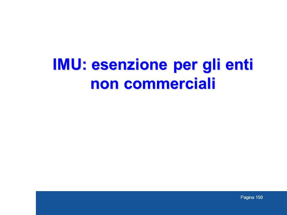 Pagina 150 IMU: esenzione per gli enti non commerciali
