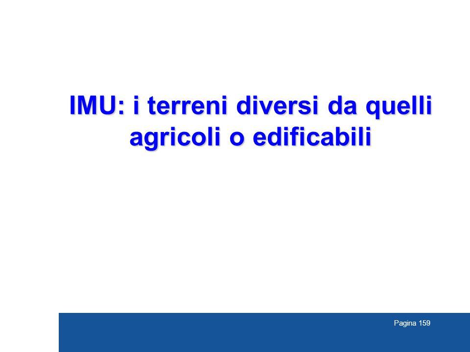 Pagina 159 IMU: i terreni diversi da quelli agricoli o edificabili