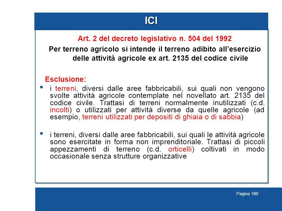 Pagina 160 ICI Art.2 del decreto legislativo n.