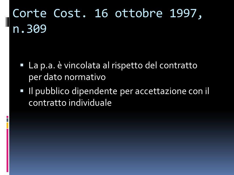 Corte Cost.16 ottobre 1997, n.309  La p.a.