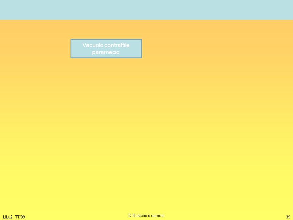 LiLu2, TT/09 Diffusione e osmosi 39 Vacuolo contrattile paramecio