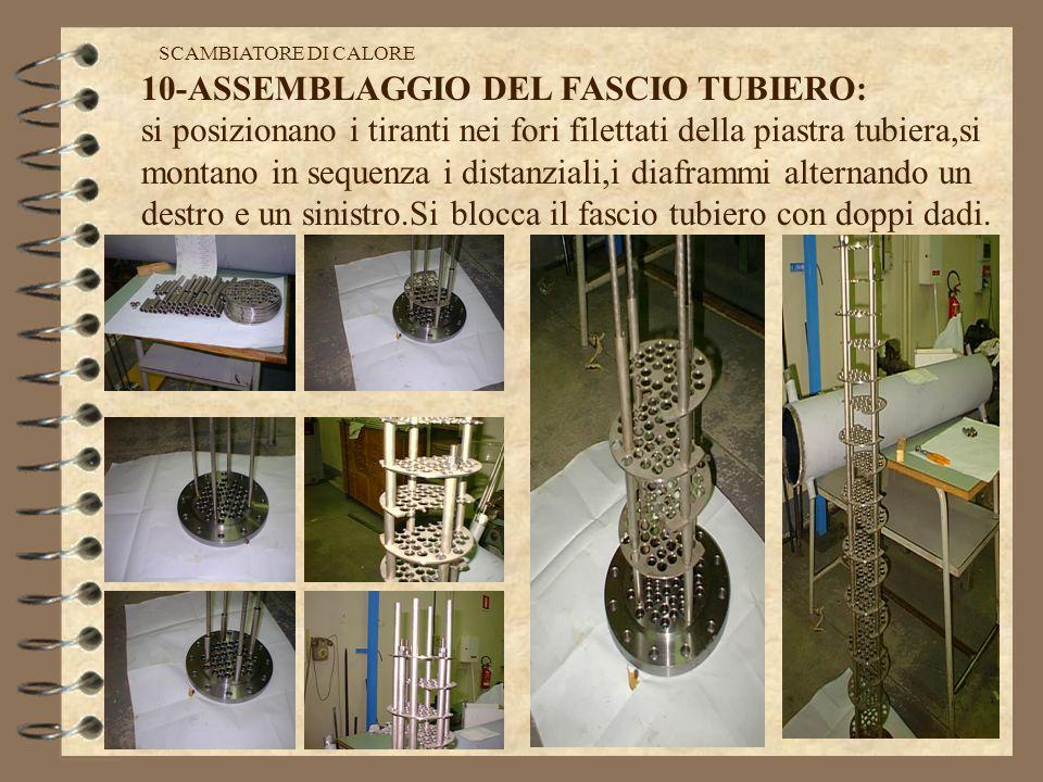 28 cartellino di lavorazione SCAMBIATORE DI CALORE 10-ASSEMBLAGGIO DEL FASCIO TUBIERO