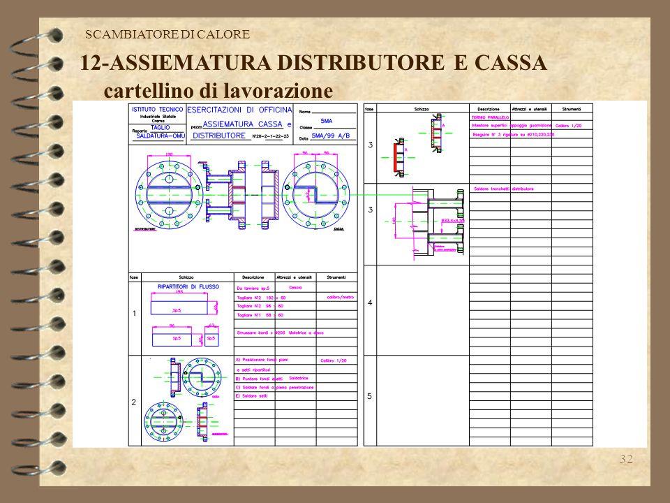 31 11-ASSEMBLAGGIO MANTELLO -PIASTRE TUBIERE Dopo aver infilato il fascio tubiero nel mantello, si posiziona la seconda piastra tubiera,si infilano i