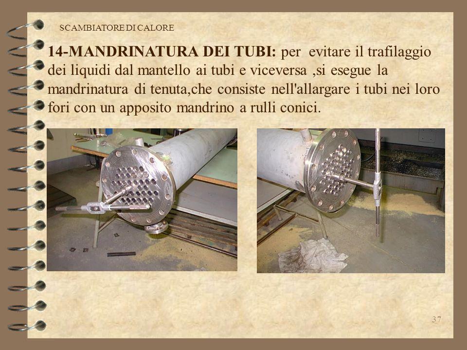 36 SCAMBIATORE DI CALORE 14-15:MANDRINATURA DEI TUBI E PROVA PNEUMATICA DI TENUTA