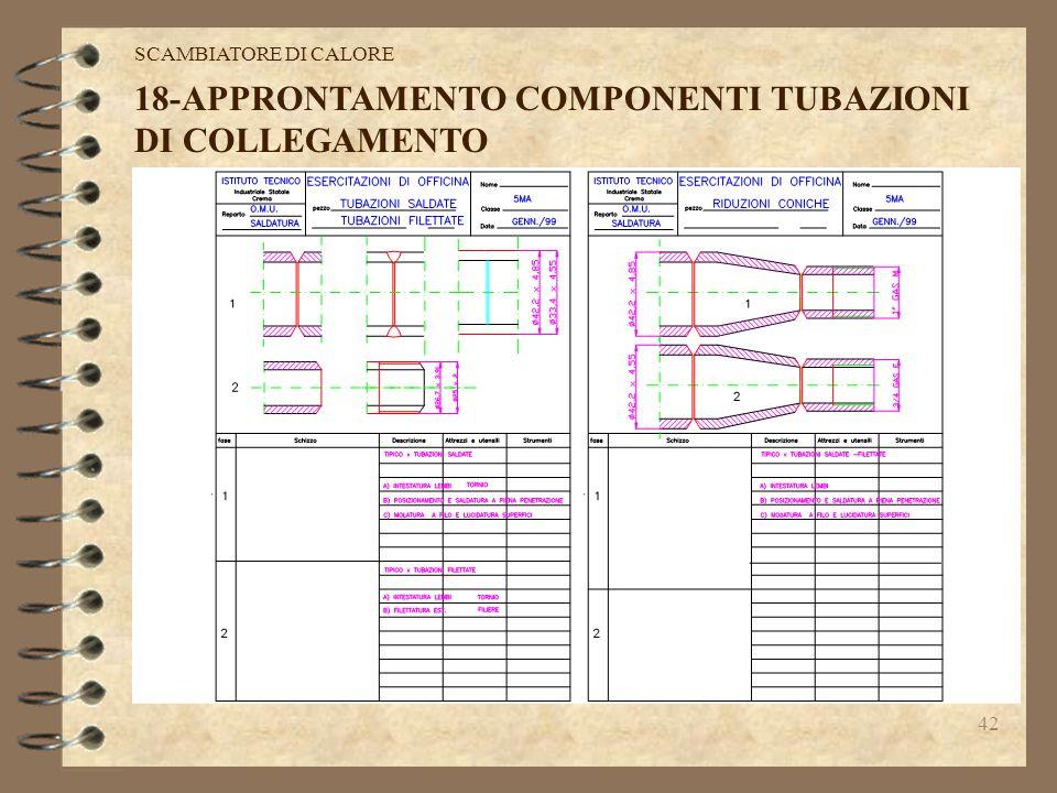 41 17-PROGETTAZIONE COMPONENTI TUBAZIONI DI COLLEGAMENTO: elaborazione del lay-out dell'impianto,verifica dei percorsi delle tubazioni,prove di assemb