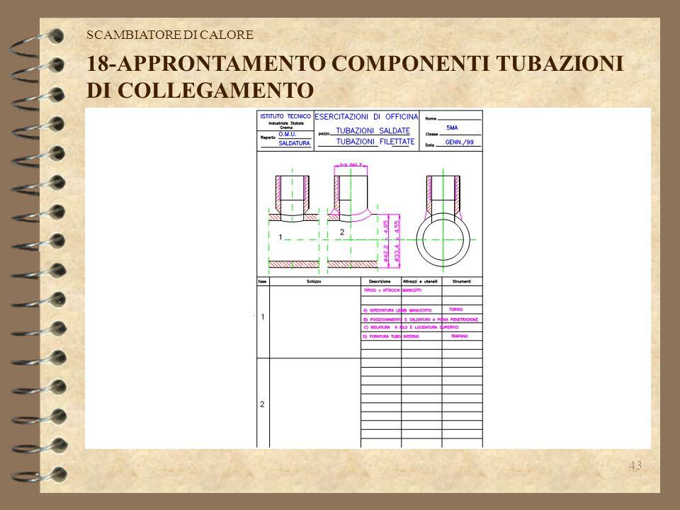 42 SCAMBIATORE DI CALORE 18-APPRONTAMENTO COMPONENTI TUBAZIONI DI COLLEGAMENTO
