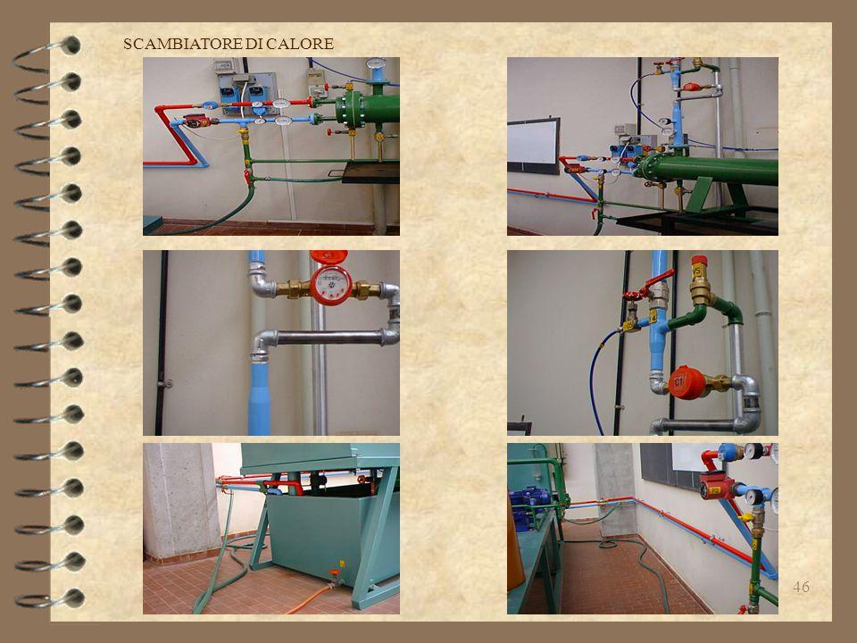 45 19-COLLAUDO FINALE : Identificazione strumenti,prova idraulica finale. Prove di funzionamento. SCAMBIATORE DI CALORE
