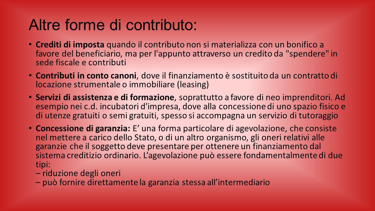 Altre forme di contributo: Crediti di imposta quando il contributo non si materializza con un bonifico a favore del beneficiario, ma per l'appunto att