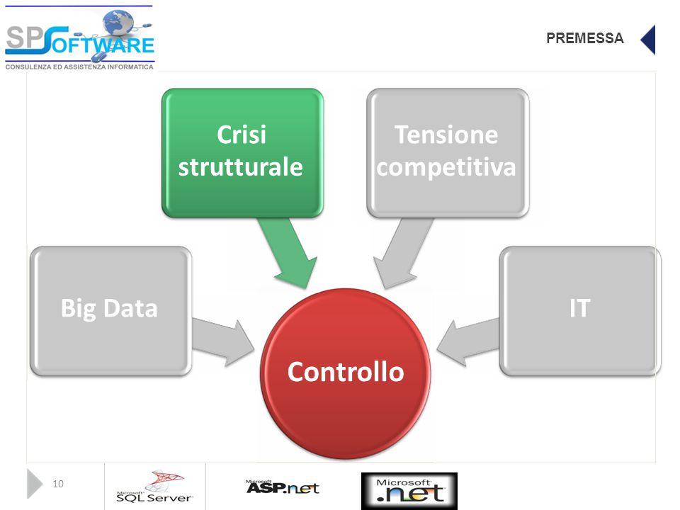 PREMESSA CrisiTensione strutturalecompetitiva Big DataIT Controllo 10
