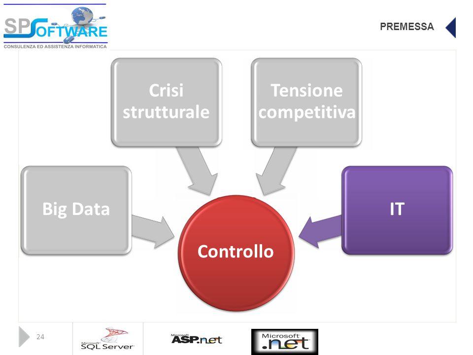 PREMESSA CrisiTensione strutturalecompetitiva Big DataIT Controllo 24