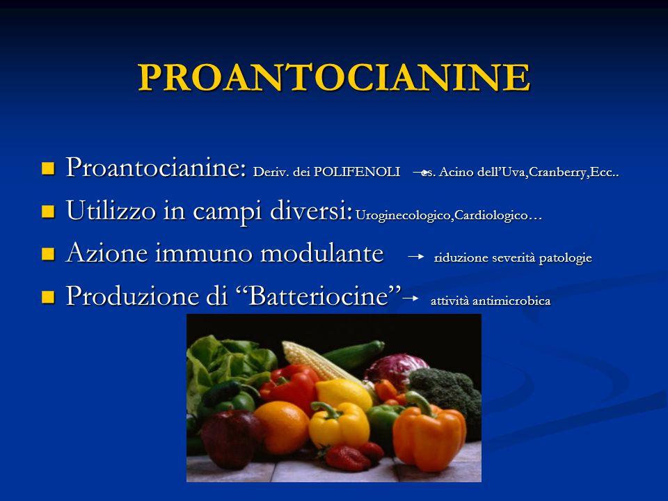 PROANTOCIANINE Proantocianine: Deriv.dei POLIFENOLI es.