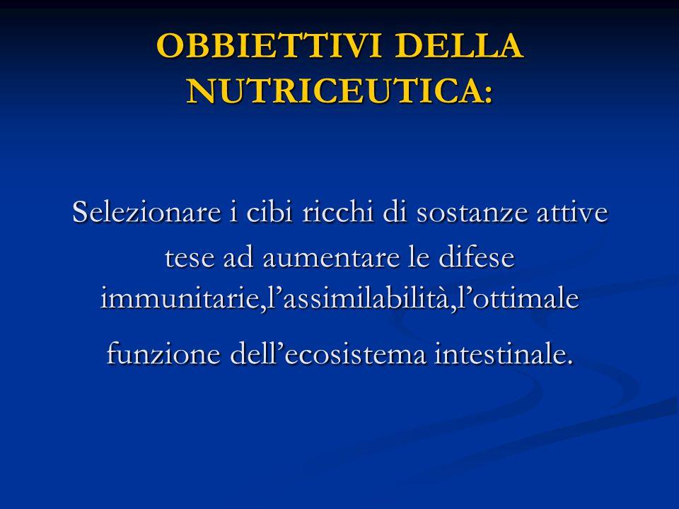 SINERGIA NUTRIZIONALE : più ampio è lo spettro dei nutrienti assunti, maggiore ne è l assimilazione e l efficacia, e allo stesso tempo minori sono le quantità necessarie di ciascun specifico nutriente .