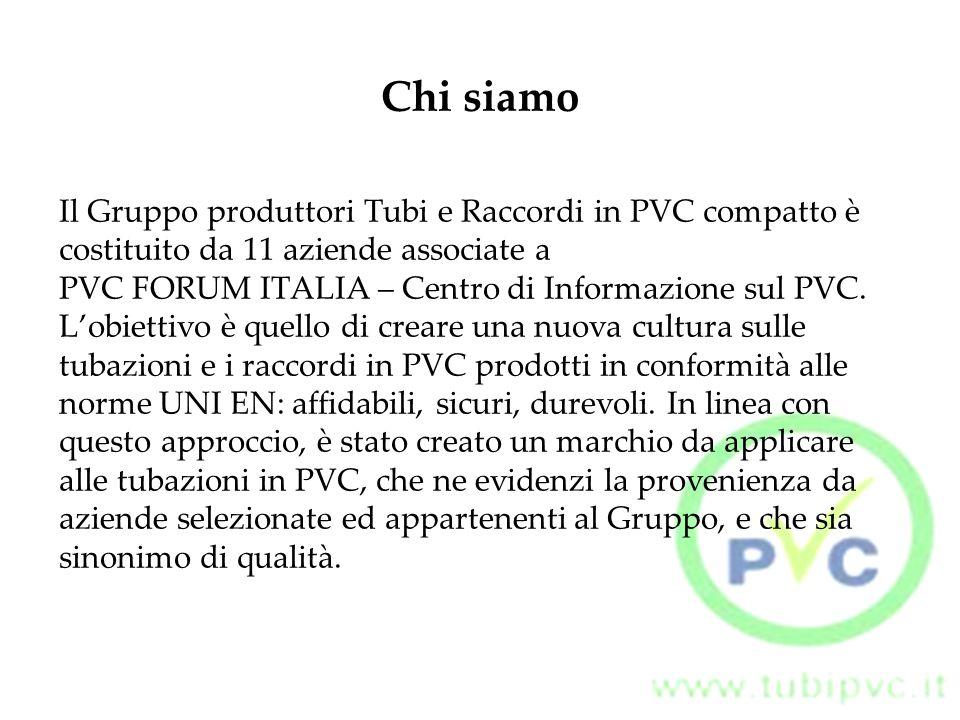 Il marchio, depositato da PVC FORUM ITALIA - Centro di Informazione sul PVC, è applicato alle tubazioni in PVC per evidenziarne la provenienza da Aziende iscritte al Gruppo e per garantirne la conformità ad applicazioni e norme specifiche.