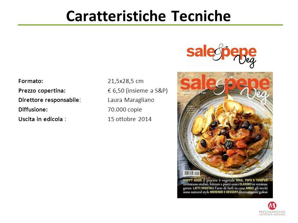 Formato: 21,5x28,5 cm Prezzo copertina: € 6,50 (insieme a S&P) Direttore responsabile: Laura Maragliano Diffusione: 70.000 copie Uscita in edicola : 1