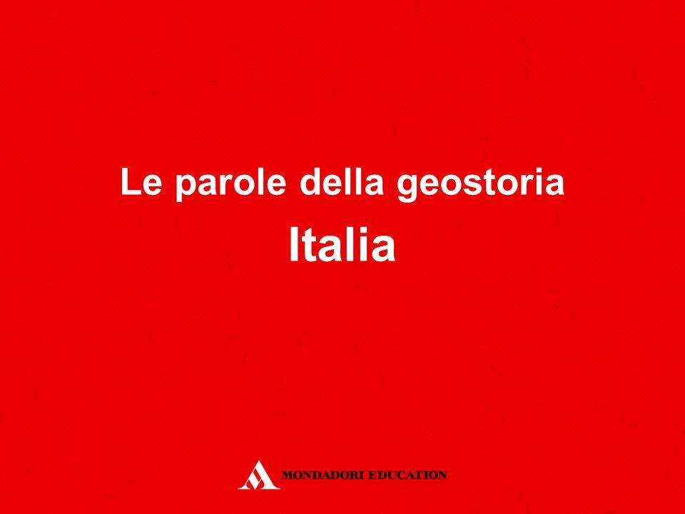 Le parole della geostoria Italia
