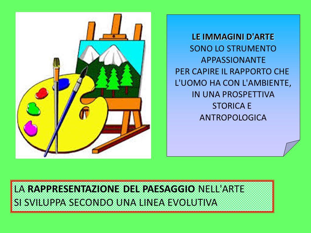Nel pieno Rinascimento italiano la raffigurazione del paesaggio subisce una battuta d arresto.