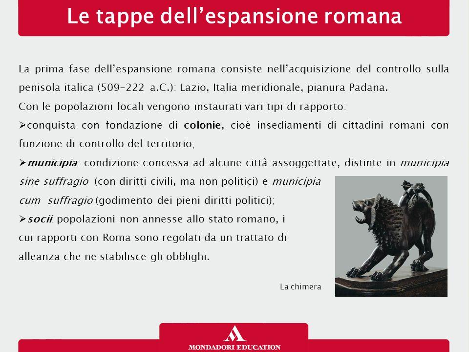 Influssi etruschi Per lo sviluppo della civiltà romana fu determinante il contatto con due popoli di altissimo livello culturale insediati nella penisola italica: gli Etruschi a nord, i Greci delle colonie magnogreche a sud.