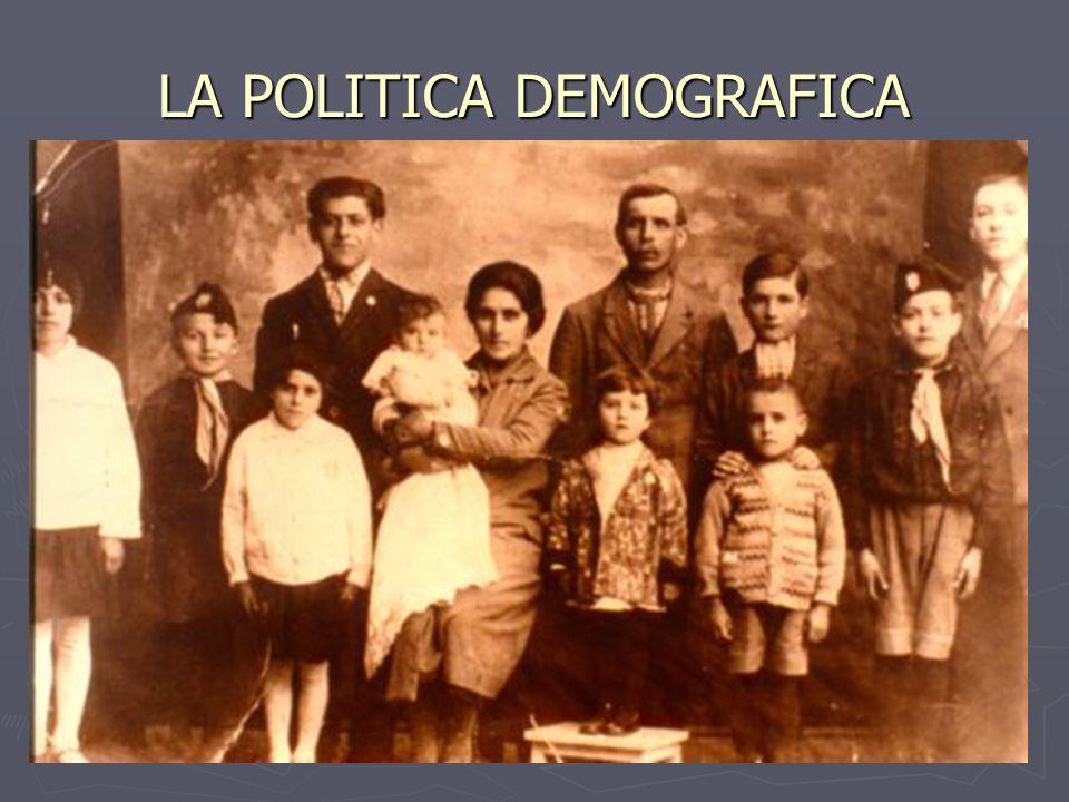 LA POLITICA DEMOGRAFICA