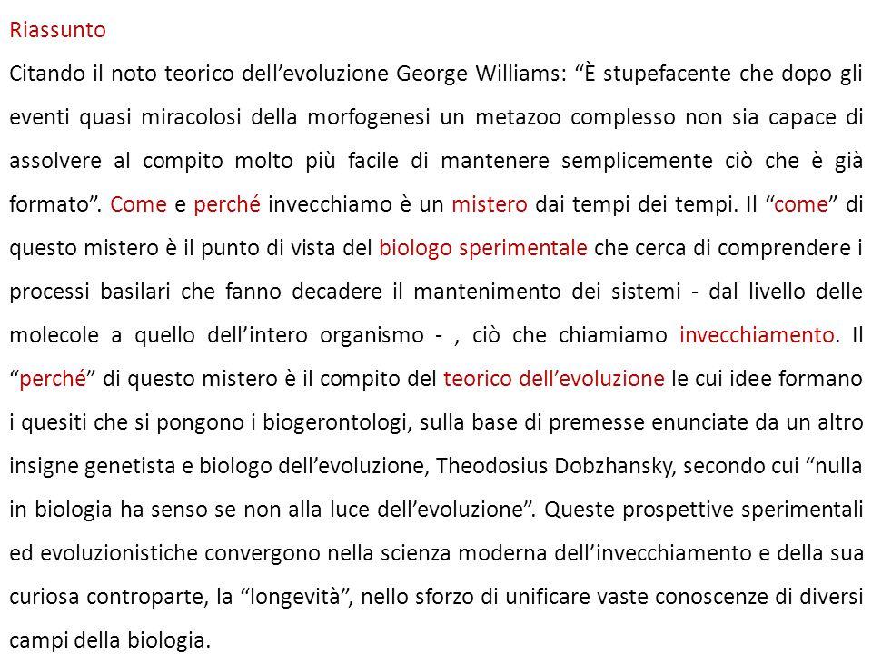 """Riassunto Citando il noto teorico dell'evoluzione George Williams: """"È stupefacente che dopo gli eventi quasi miracolosi della morfogenesi un metazoo c"""