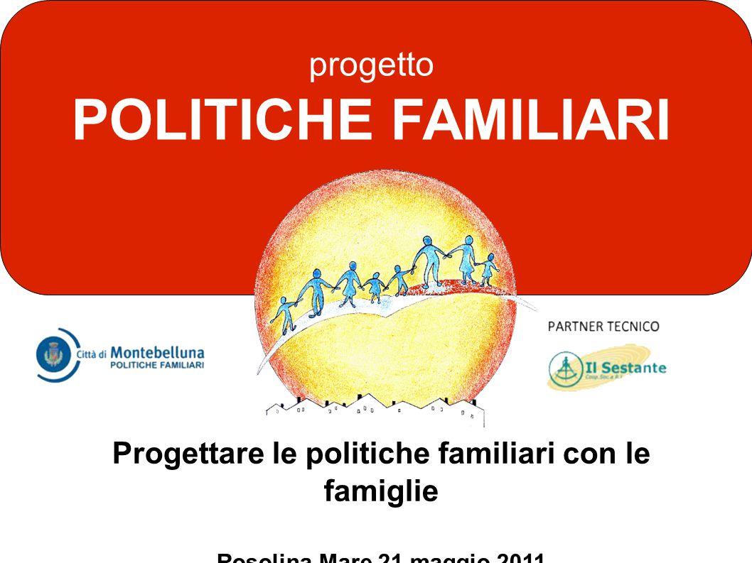 progetto POLITICHE FAMILIARI Progettare le politiche familiari con le famiglie Rosolina Mare 21 maggio 2011