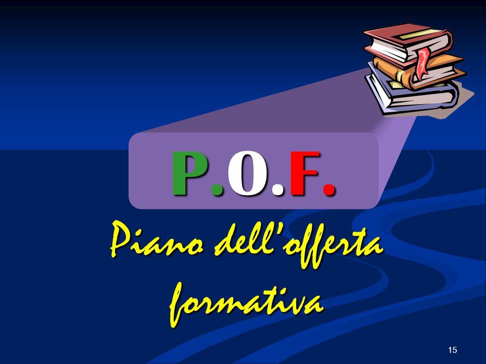 P.O.F. Piano dell'offerta formativa 15