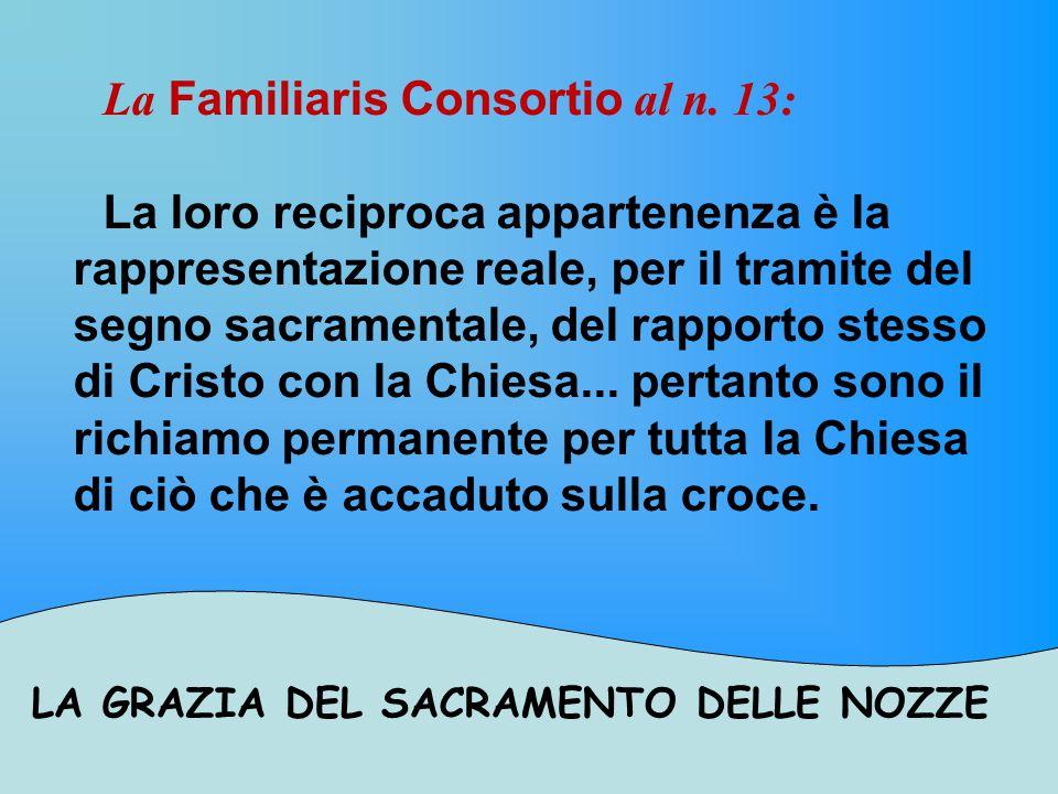 LA GRAZIA DEL SACRAMENTO DELLE NOZZE Al n.