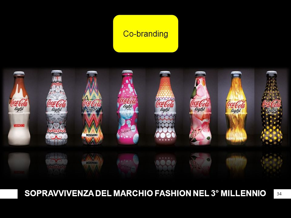 SOPRAVVIVENZA DEL MARCHIO FASHION NEL 3° MILLENNIO 34 Co-branding