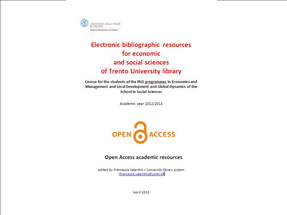16th April 2013DRSBA. Ufficio Anagrafe della ricerca, Archivi istituzionali e supporto editoriale 1