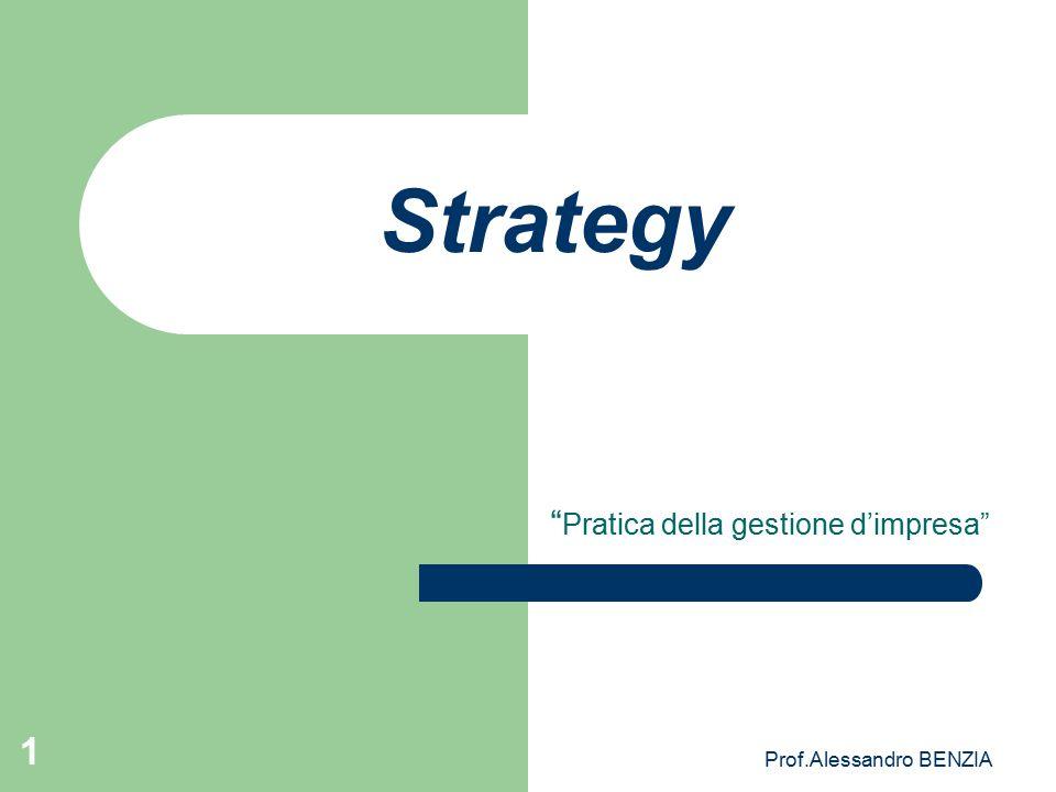 """Prof.Alessandro BENZIA 1 Strategy """" Pratica della gestione d'impresa"""""""