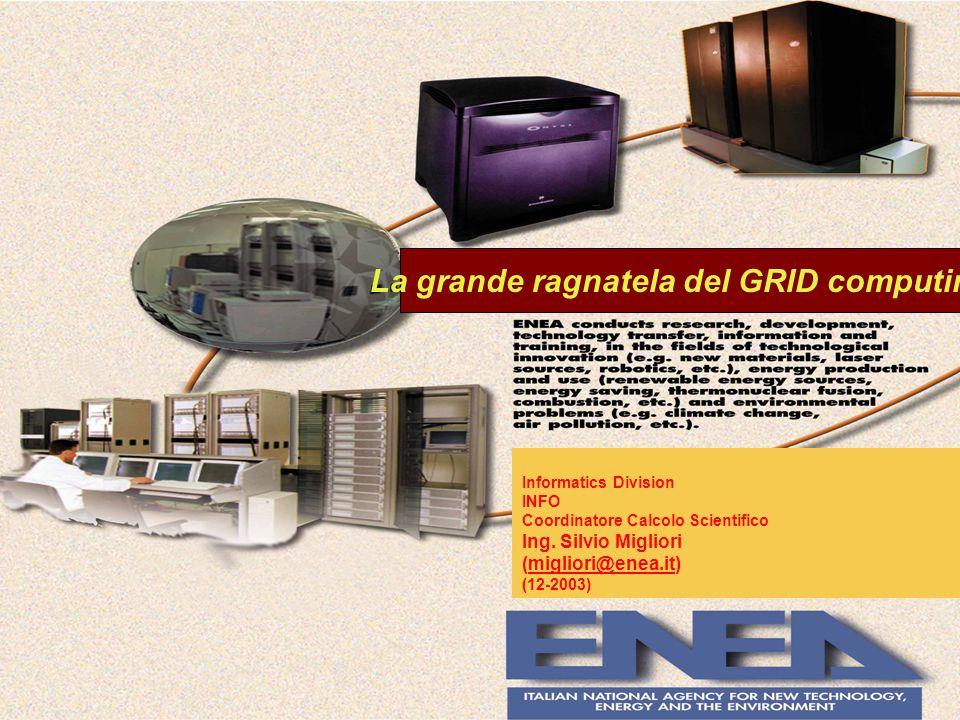 Informatics Division INFO Coordinatore Calcolo Scientifico Ing.