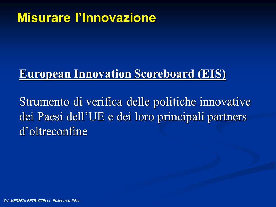 © A.MESSENI PETRUZZELLI, Politecnico di Bari SII e Trend Fonte: EIS-2013