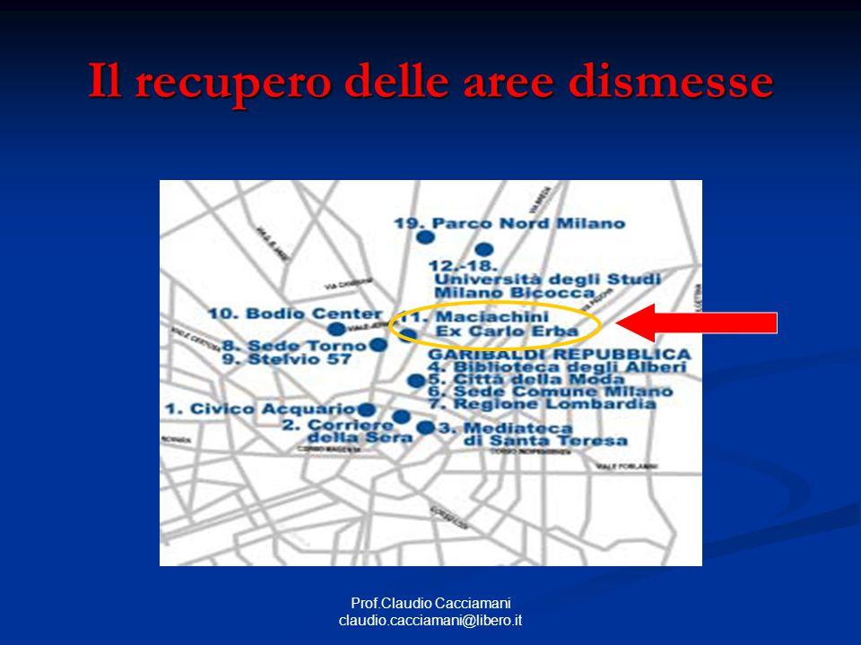 Prof.Claudio Cacciamani claudio.cacciamani@libero.it Il recupero delle aree dismesse