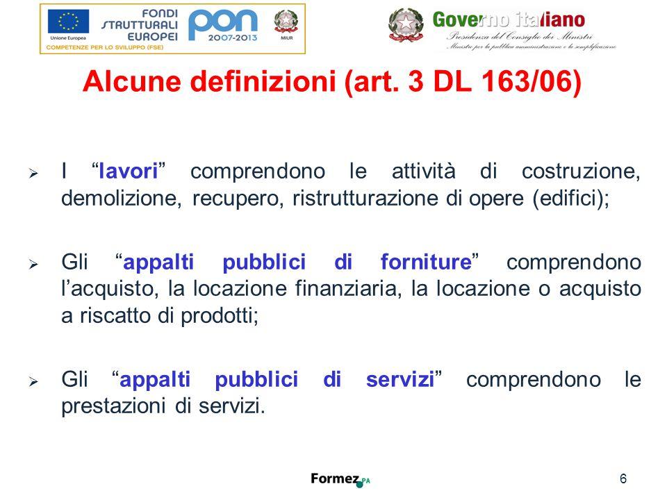 Alcune definizioni (art.