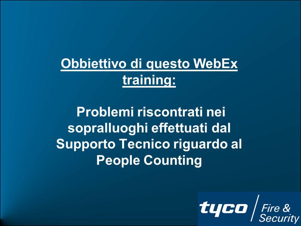 EAS Support 4 WebEx Training People Counting Sistema di conteggio presenze con installazione a soffitto.