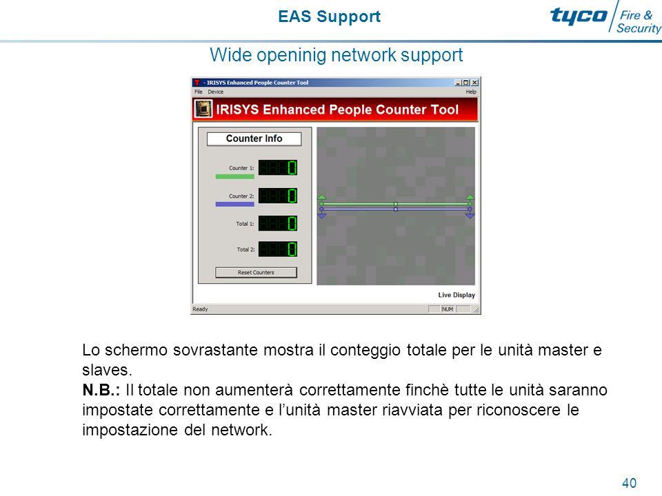 EAS Support 41 Traffic flow counter Le seguenti TIB sono disponibili e possono essere anche scaricate da: www.calltyco.com\download2 www.calltyco.com\download2 –TIB114SRM08 Traffic Flow UltraExit.