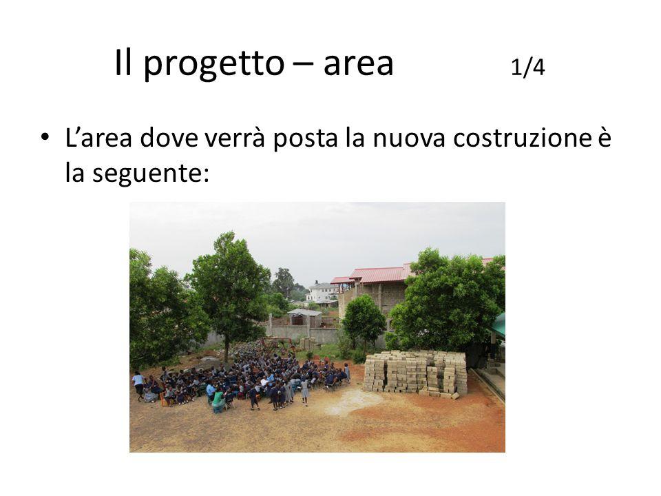 Il progetto – area 1/4 L'area dove verrà posta la nuova costruzione è la seguente: