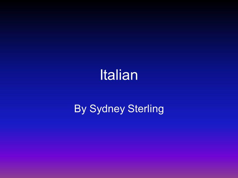 Italian By Sydney Sterling