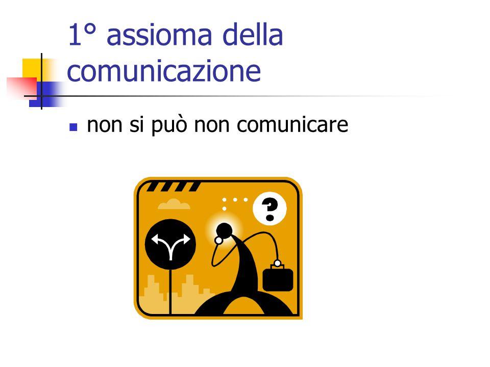 1° assioma della comunicazione non si può non comunicare