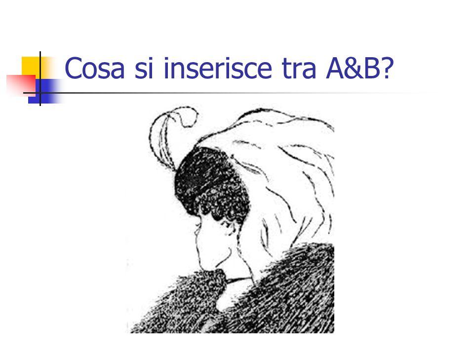 Cosa si inserisce tra A&B