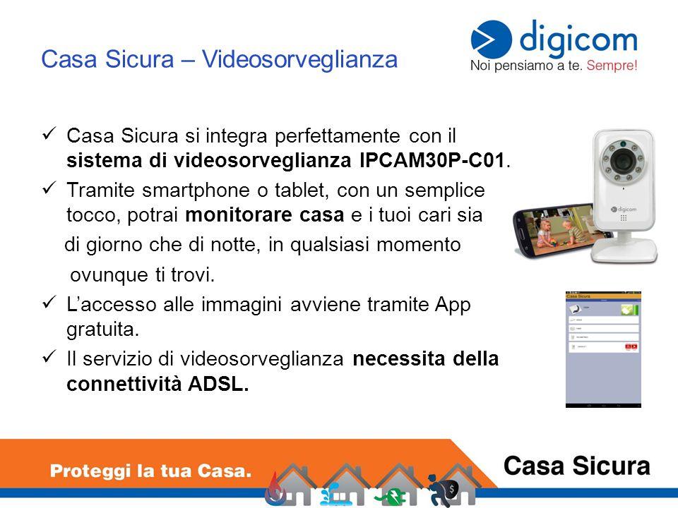 Casa Sicura – Videosorveglianza Casa Sicura si integra perfettamente con il sistema di videosorveglianza IPCAM30P-C01.