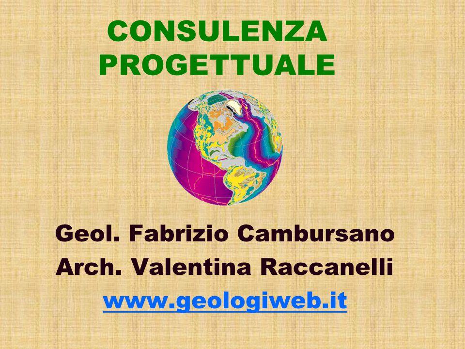 CONSULENZA PROGETTUALE Geol. Fabrizio Cambursano Arch. Valentina Raccanelli www.geologiweb.it
