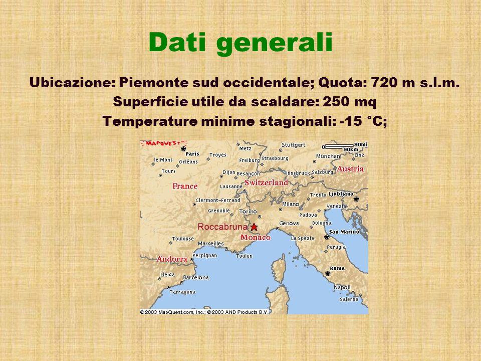 Dati generali Ubicazione: Piemonte sud occidentale; Quota: 720 m s.l.m.