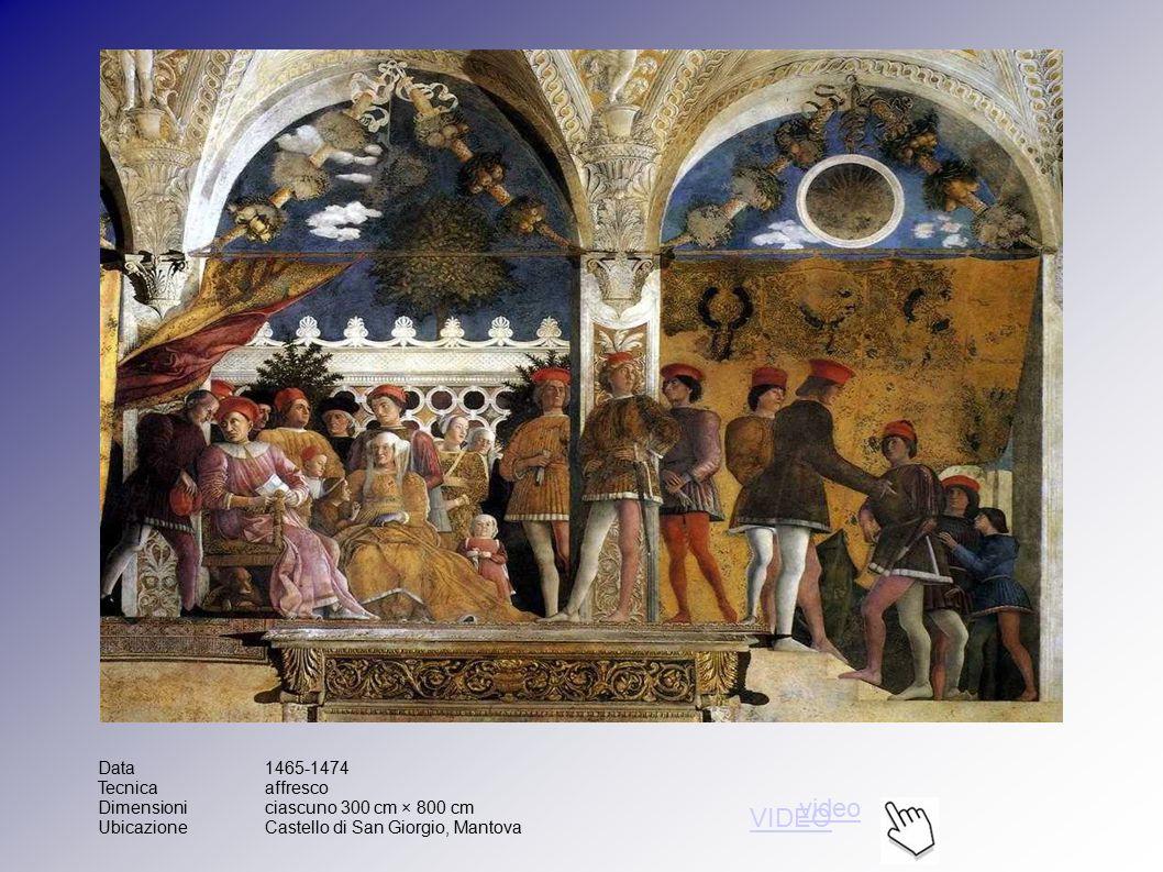 Data1465-1474 Tecnicaaffresco Dimensioniciascuno 300 cm × 800 cm UbicazioneCastello di San Giorgio, Mantova video VIDEO