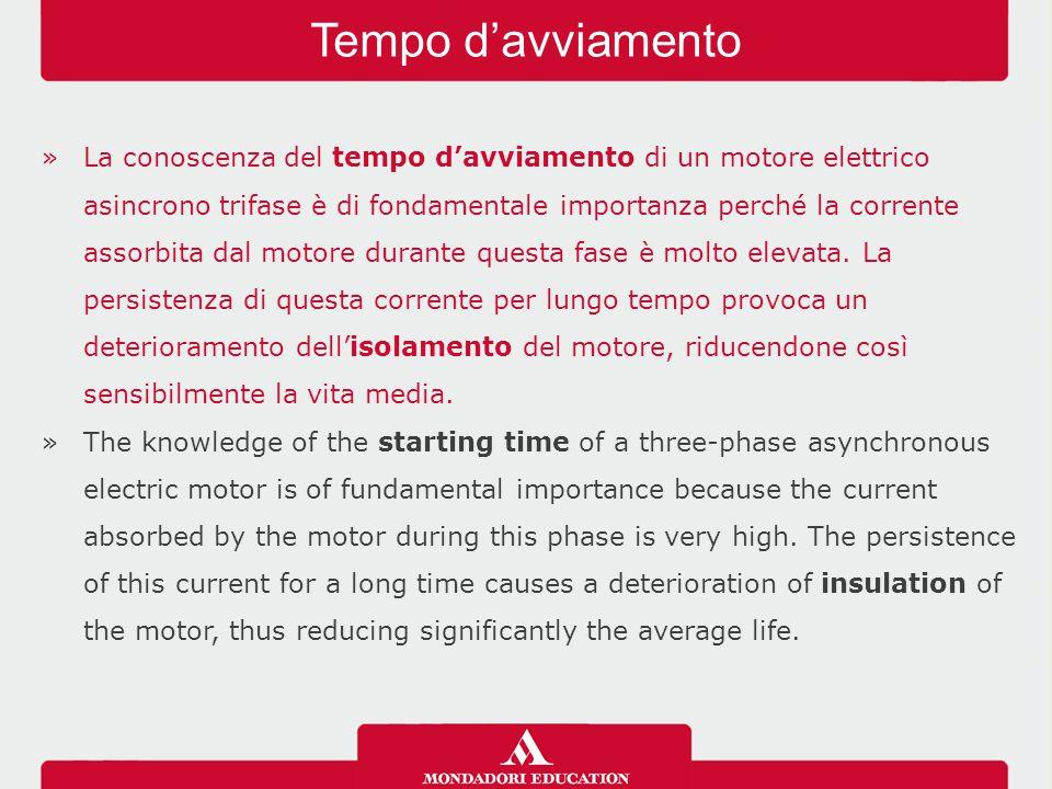 »La conoscenza del tempo d'avviamento di un motore elettrico asincrono trifase è di fondamentale importanza perché la corrente assorbita dal motore durante questa fase è molto elevata.
