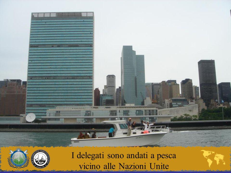 I delegati sono andati a pesca vicino alle Nazioni Unite