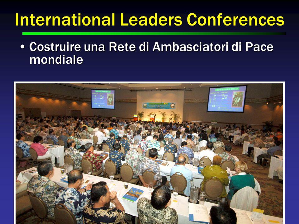 International Leaders Conferences Costruire una Rete di Ambasciatori di Pace mondialeCostruire una Rete di Ambasciatori di Pace mondiale
