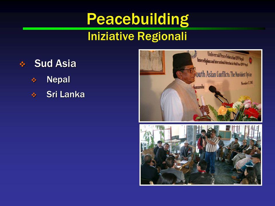 Peacebuilding Iniziative Regionali  Sud Asia  Nepal  Sri Lanka