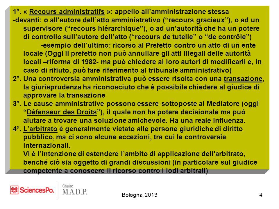 Bologna, 201315 - Chi è qualificato per impugnare una decisione particolare.