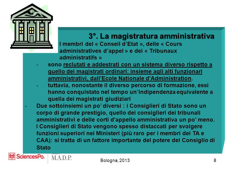 Bologna, 20138 3°. La magistratura amministrativa 3°.